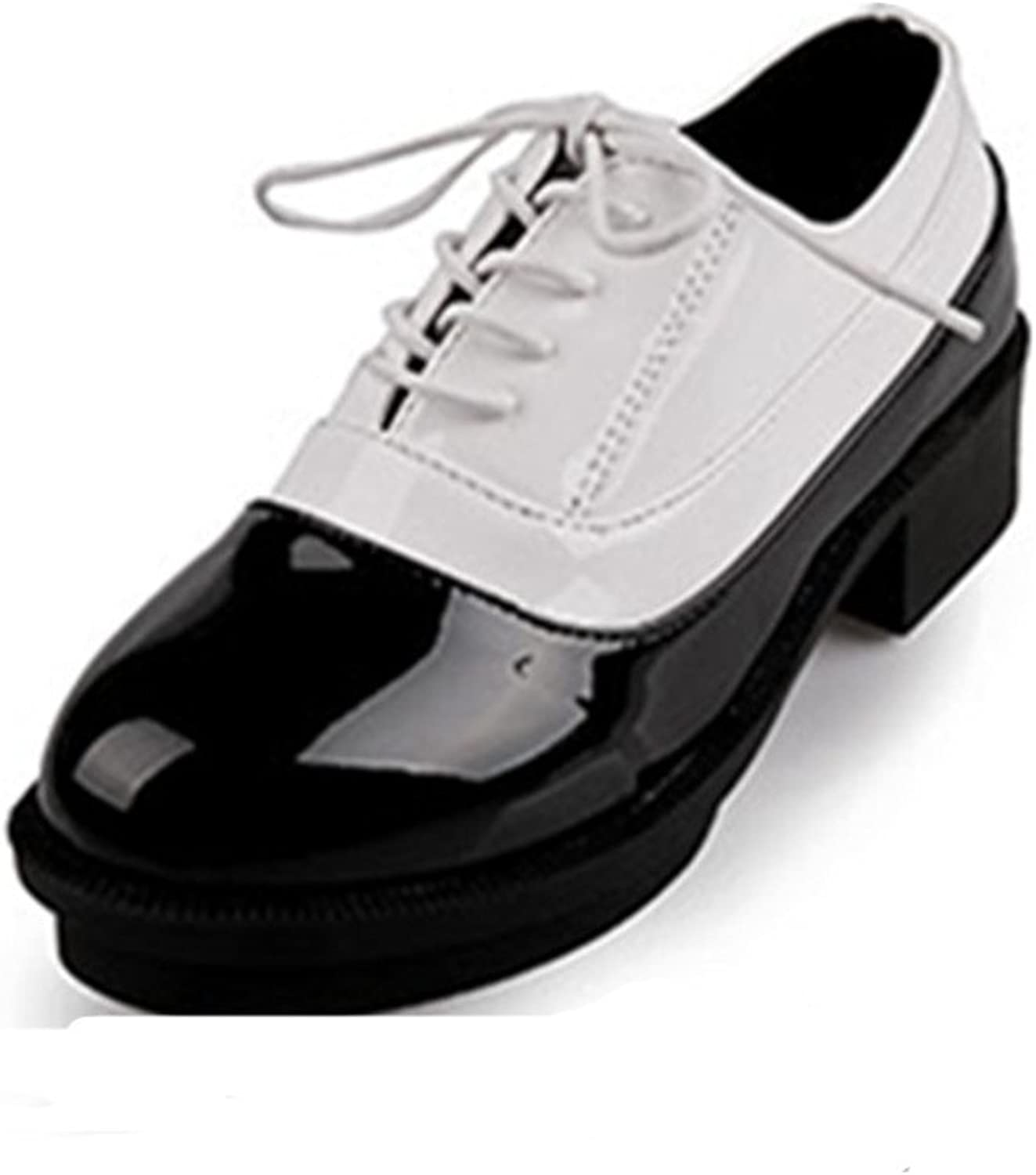 British leisure laced shoes Low crude and shallow mouth with round head shoe