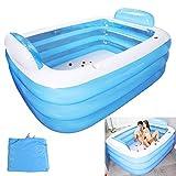 SYXW 210M Schwimmbad Babywanne Doppelte Faltbare Badewanne Isolationsschutz Multifunktionspool Mit Rückenlehnenkissen