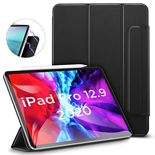 """ESR Hülle kompatibel mit iPad Pro 12.9"""" 2020, praktischer Magnetverschluss [Unterstützt Apple Pencil Koppeln & Laden] Trifold Standhülle, Smart Case, Auto Schlaf-/Weckfunktion - Schwarz"""