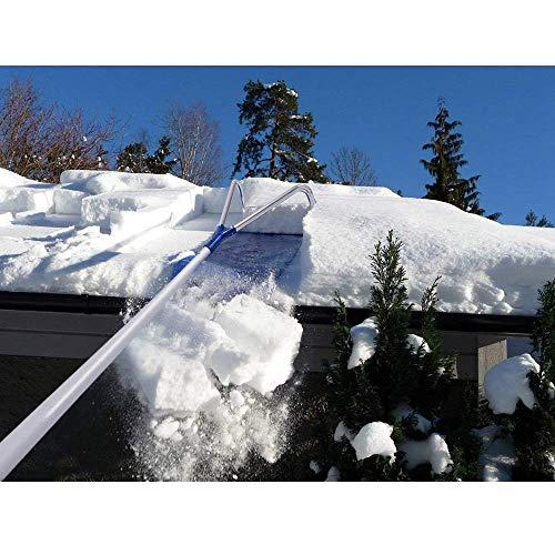 Snow Rake Removal Tool und verhindern Sie Schäden von der Happening an Ihrem Dach, 20 Ft mit Adjustable Teleskop-Handle-Roof Schnee Entfernungs-Tool