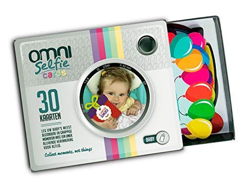 Omni Selfie Cards - 30 selfie cards | giftbox | baby cadeau | mijlpaal kaarten | herinneringskaarten | DUTCH