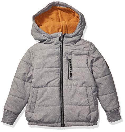Timberland Jungen Full Zip Heavyweight Puffer Jacket Daunenalternative, Mantel, Kohle Heather, 14/16 US