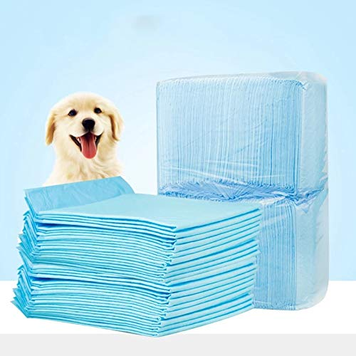 LuckyPet23 Puppy Pads Dog Pee Pad for Training Dogs & Cats, Doggy Pet Supplies for Puppies All Absorb-ent Disposable Doggie in-Doors Piddle Absorbent Leak-Proof Urine Holder (M-L) (L(60x60) 40PCS)