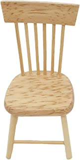 NLGToy 1:12 Miniature Wooden Scenes Accessories,Mini Dollhouse Furniture Miniature Wooden Kitchen Chair,Perfect Dollhouse ...