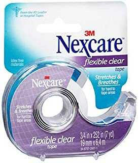 Nexcare Flexible Clear First Aid Tape, 3/4 Inch x 7 Yards (Pack of 2)