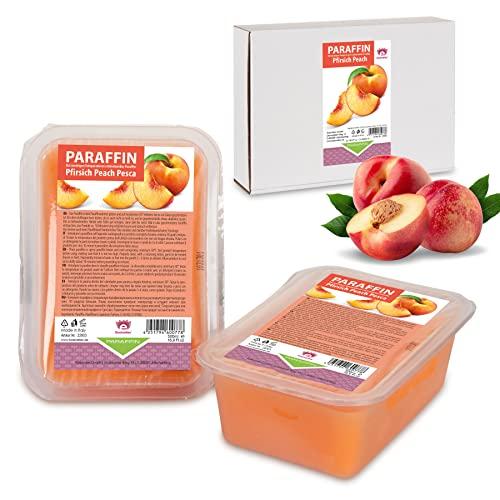 Kosmetex Paraffinbad, Paraffin-wachs mit niedrigeren Schmelzpunkt, Pfirsich Duft, (4x 500ml)
