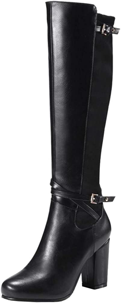 Skapee Women Classic Equestrian Boots High Block Heels Zipper At the price Sales of SALE items from new works of surprise