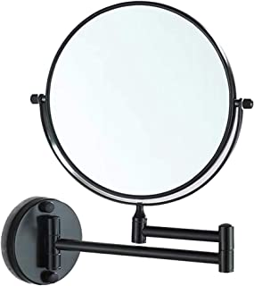 Perfeclan 1x/3x Magnification Wall Mounted Two Sided Mirror, Durable Space Aluminum Bathroom Mirror, Chrome Polished - Black