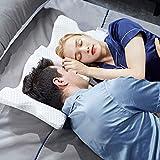 Deoxys Arm Pillow Cuddle Pillow Couple Pillow Slow Rebound Pressure Romantic Pillow Side Sleeper Pillow Memory Foam Pillow Cervical Neck Pillow for Sleeping U Pillow Arched Travel Pillow(DE-03)