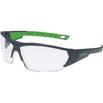 Gafas de Seguridad uvex i-Works - EN 166 170 - Antivaho y Resistente a arañazos y químicos - Transparente/Verde