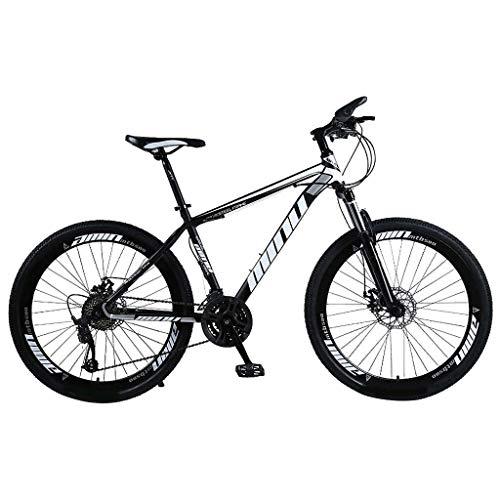 Mountainbikes 26 Zoll Aufhängen MTB Jugendmountainbike Jugendfahrrad Shimano 21 Gang-Schaltung, Gabelfederung, Jungen-Fahrrad Herren-Fahrrad (Weiß)