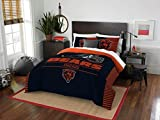 Chicago Bears - 3 Piece FULL / QUEEN SIZE Printed Comforter & Shams - Entire Set Includes: 1 Full / Queen Comforter (86' x 86') & 2 Pillow Shams - NFL Football Bedding Bedroom Accessories