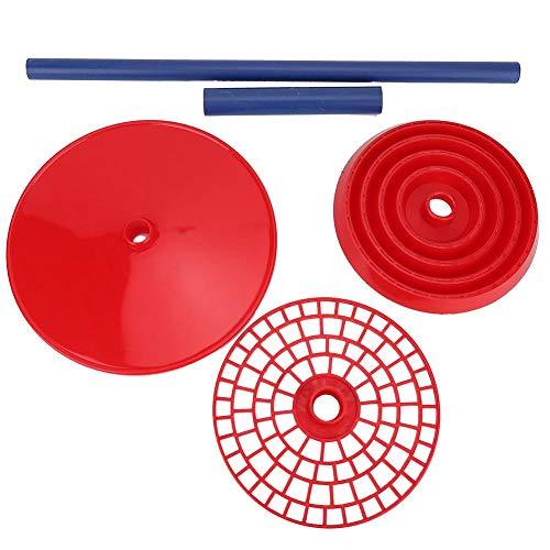 Laborn-Zubehör, 12,7 mm, Pipettenhalter, multifunktional, roter Rahmen, Pipettenhalter, Sicherheitsmaterial aus Polypropylen