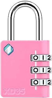 [ZARKER XD35] Padlock- 3 Digit Combination Lock for Gym, Sports, School & Employee Locker, Outdoor,Toolbox, Case, Fence an...
