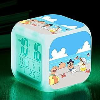 Luminous Lamp LED Alarm Clock Crayon Shin-chan LCD Display Temperature Digital Clock reloj despertador Infantil Watch