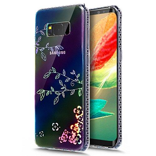 Galaxy S8Plus caso, ikasus Galaxy S8Plus [Glitter Carcasa de TPU] ultra-slim brillante resistente a los arañazos diseño de flores Color e suave TPU silicona caucho funda protectora para Samsung Gala
