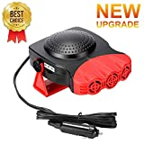 Car Heater,Car Defogger,Windshield Defroster Plugs into Cigarette Lighter,Auto Electronic Heater Fan Fast Heating Defrost 12V 150W Heating Cooling 2 in 1 Function 3-Outlet Car Heater (Red and Black)