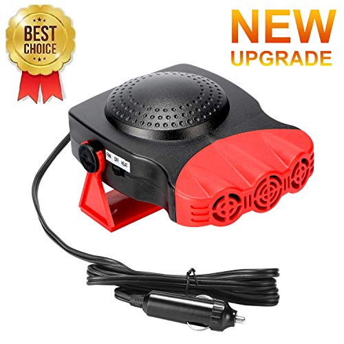 Car Heater,Car Defogger,Windshield Defroster Plugs into Cigarette Lighter,Auto Electronic Heater Fan Fast Heating Defrost 12V 150W Heating Cooling 2 in 1 Function 3-Outlet Car Heater (Red)