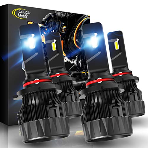 Cougar Motor X-Small 9005 + 9006 LED Headlight Bulb, Combo (2 Sets) 10000Lm 6500K Conversion Kit - Cool White CREE