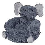 Trend Lab Children's Plush Elephant Character Chair, Elephant/Gray