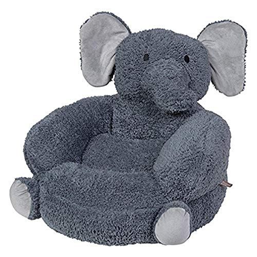 Trend Lab Children's Plush Elephant Character Chair, Elephant/Gray