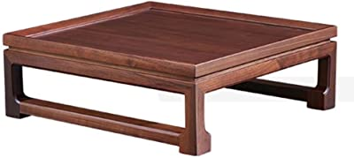 Small Tea Table Solid Wood Sofa Table Windowsill Japanese Tatami Coffee Table Bay Window Table Tables (Color : Brown, Size : 53 * 49 * 18cm)