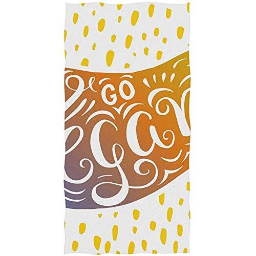Gouden aubergine handdoek Ultra zachte handdoeken voor badkamer 30X70CM