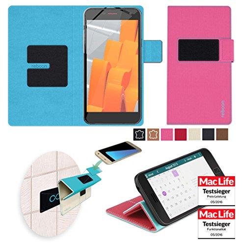 reboon Hülle für Wileyfox Spark X Tasche Cover Case Bumper | Pink | Testsieger