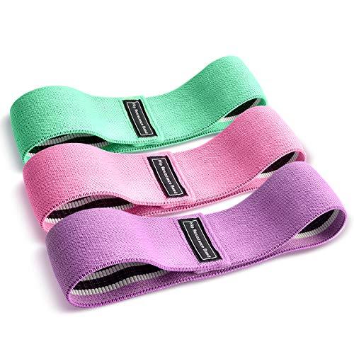 Racokky Bandas Elasticas Gluteos, Juego de 3 Bandas Elásticas Musculacion para Fitness, Resistencia Antideslizante para Cadera, Piernas,Mujer y Hombre