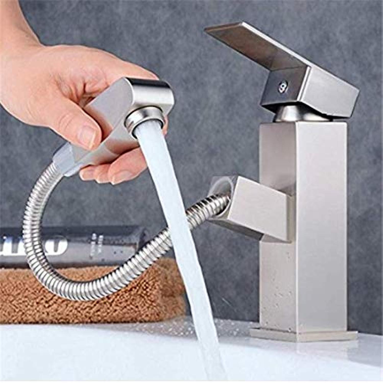 Waschbecken Wasserhahn herausziehen Badezimmer Waschbecken einzigen massiven Messing heien und kalten Mischbatterie Einhebel-Einloch-Wasserhahn