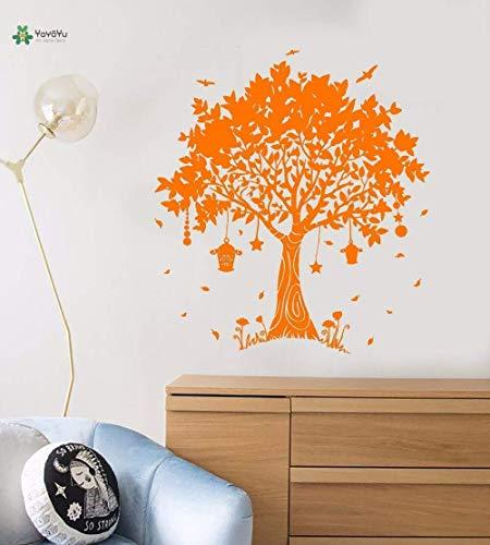 Vinyl Wandtattoo Schöne Traum Magie Baum Hängende Laterne Märchen Märchen Kinderzimmer Home Decoration Aufkleber 85X94Cm