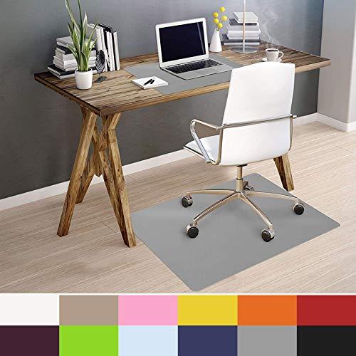 OfficeMarshal Alfombra de Color para Silla - Alfombrilla Protectora Suelo | Alfombra oficinas PP | Multiuso | Muchos Colores y tamaños (Gris, 90x120 cm)