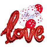 Love Balloon Red White Heart Confetti Room Decorations Kit Party Props Decor Balloons...