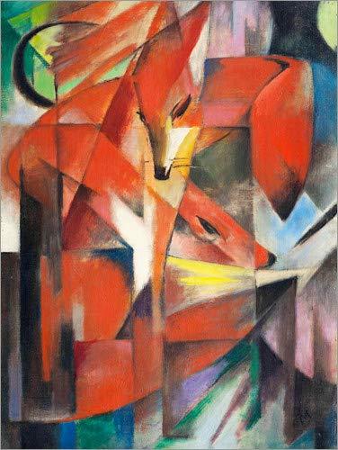 Poster 30 x 40 cm: Füchse von Franz Marc - hochwertiger Kunstdruck, neues Kunstposter