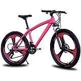 D&XQX Mountainbike, 26 Zoll Folding E-Bike mit Super-Magnesium-Legierung 6 Speichen integrierten Rad, Premium Full-Suspension und Shimano 27 Speed Gear,21 Speed