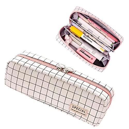 [Amazonブランド] YOMESA ペンケース 筆箱 女の子 おしゃれ 高校生 かわいい シンプル 大容量 多機能 可愛い 中学生 小学生 ふでばこ おしゃれ ペンポーチ 人気