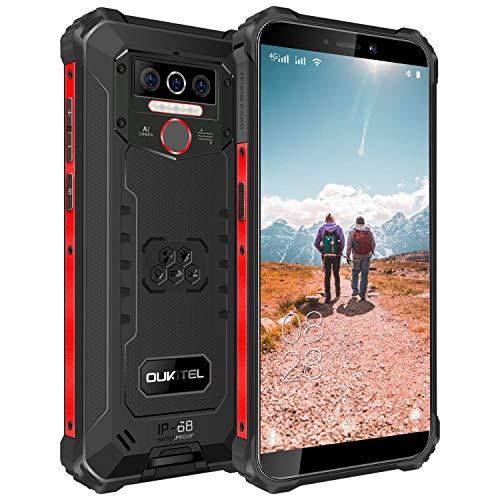 OUKITEL WP5 simフリースマホ本体 8000mAh大容量バッテリースマートフォン 32GB+4GB(256GBまで対応可能) 5.5インチ 防水スマホ Andriod10 顔認証 指紋認識 技適認証済み 1年間保証付き(ブラック)