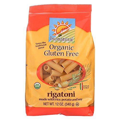 Bionaturae Rigatoni Gluten Free Pasta, 12-Ounce (Pack of 12)