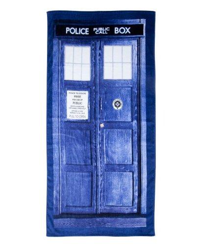 Doctor Who Tardis Tür Baumwolle Strand oder Badetuch (149,9cm lang x 291/5,1cm breit)