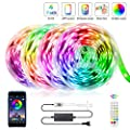 65.6FT LED Strip Lights, ZATAYE Ultra-Long Music Sync RGB Lights, 360LEDs SMD5050 Bluetooth App Control Dimmable Color Changing Tape Light for Bedroom, Kitchen, TV, Party