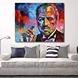 KWzEQ Color Padrino Moderno Lienzo Pared Arte Imagen impresión Sala decoración del hogar,Pintura sin Marco,30x40cm