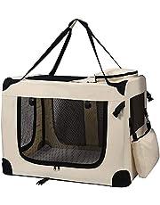 Petigi Torba transportowa, składane pudełko transportowe dla psa, kolor beżowy XL