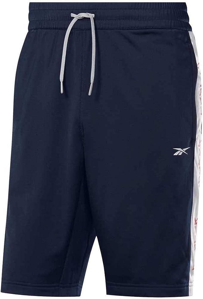 Blanco Reebok Te Linear Logo Short Pantal/ón Corto Mujer S