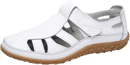 Sayla Sandalias para Mujer Verano 2019 Moda Sexy Casual Tacon Plataforma Sandalias Gladiador Cuero Genuino Hueco Casuales SeñOras Fondo Suave Zapatos Playa