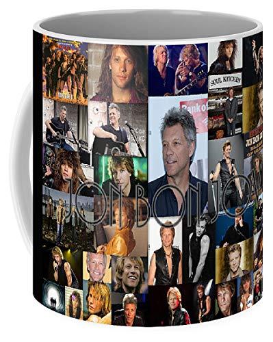 Lplpol Jon Bon Jovi Collage - Taza de café y té (325 ml)