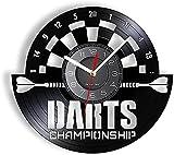 RFTGH Disco de Vinilo Reloj de Pared Juego de Mesa de Dardos Reloj de Pared Moderno Sala de Juegos decoración de la Sala de Juegos Reloj de Cuarzo Mudo