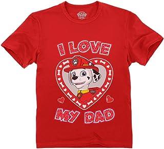 Marshall Paw Patrol - I Love My Dad Boys' Toddler Kids T-Shirt