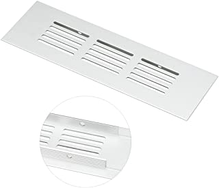 uxcell Air Vent, 150mmx50mm, Ventilation Grille Aluminum Alloy Louvered Grill Cover 4pcs
