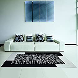 Pattern: Modern Jacquard Chenille Carpet Mod; Venus Use: as a small bed or as a decorative element of the living room Features: Jacquard Processing Modern Design Composition: 40% Acrylic, 30% Polyester and 30% Cotton Size: Pair 65 x 110