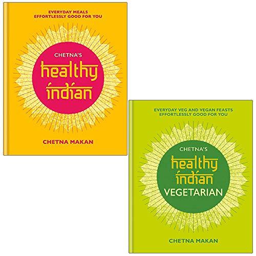 Chetnas Healthy Indian and Vegetarian By Chetna Makan 2 Books Collection Set